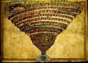 Боттичелли. Иллюстрации к 'Божественной комедии Данте. Круги ада