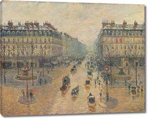 Камиль Писсарро. Авеню де ла Опера в Париже. Эффект снега. Утро