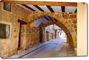 Деревня Beceite в Испании Теруэль в Matarrana
