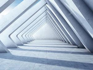 Современный бетонный зал