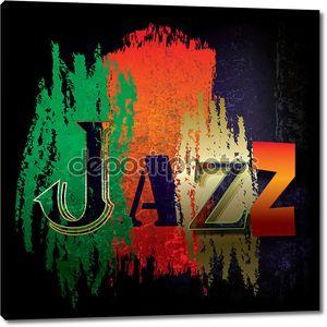 Фон абстрактный джазовой музыки