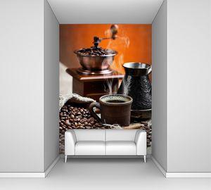 Горячий кофе в зернах