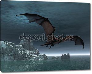 Красный дракон ночью