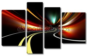 абстрактное ночное движение скорости ускорения