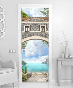 Море через арку с окнами