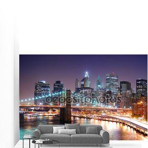 Манхэттен Нью-Йорк и Бруклинский мост