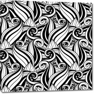 Бесшовные абстрактный монохромный цветочный узор