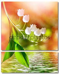Весенний пейзаж. Цветы ландыша