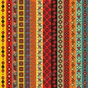 Разноцветный африканский узор