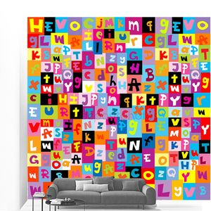 Цветной узор с буквами алфавита