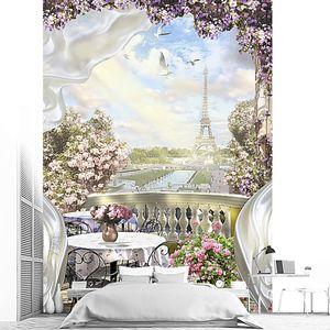 Вид на Париж с балкона