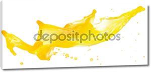 Сочный оранжевый всплеск