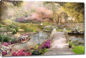 Невероятный сад с мостиками