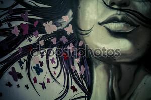 Арт лица девушки