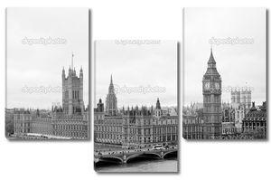 Лондонский парламент в черно-белом
