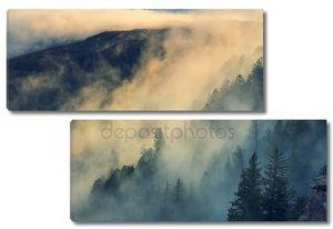 Туманный туман в горах