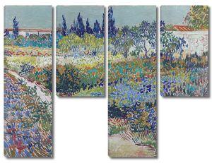 Ван Гог. Цветущий сад с тропинкой