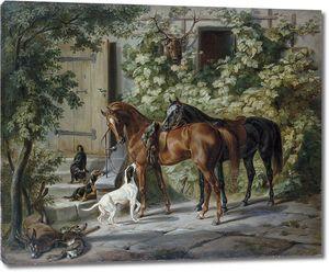 Адам Альбрехт. Лошади и собаки