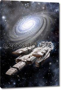 Космического корабля линкор и галактики