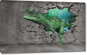 Динозавр из серой стены