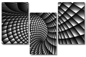 Абстрактные 3D спираль чб