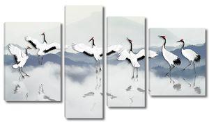 Танцы журавлей на воде