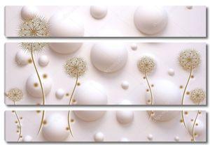 Пузыри, темные абстрактные одуванчики