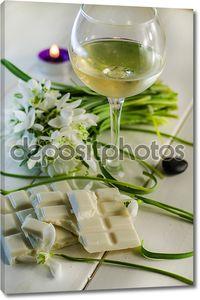 Вино с  белым шоколадом