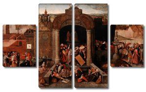Стиль Питера Брейгеля Ст. Изгнание торгующих из храма