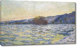 Моне Клод. Льдины, 1893