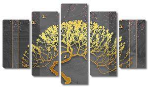 Золотое дерево с круглой кроной