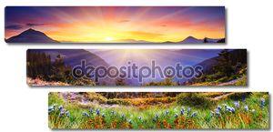 Горный пейзаж на восходе