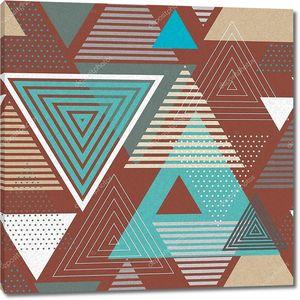 Абстрактный фон из коричневых и голубых треугольников