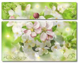 Солнечный день в цветочном саду