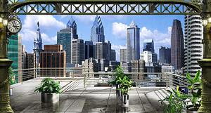 Вид на современный город