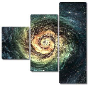 Невероятно красивые спиральная галактика где-то в глубоком космосе