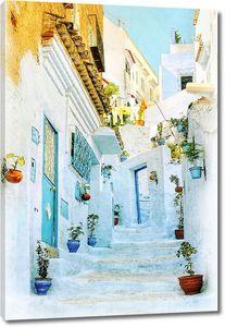 Улочка с белоснежными домами
