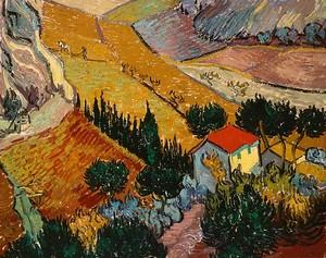 Ван Гог Винсент. Пейзаж с домом и пахарем