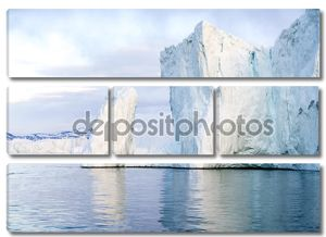 Огромные и красивые ледники находятся на Северный Ледовитый океан в Ilulissat фьорд, Гренландия
