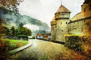 Пасмурный день рядом с замком