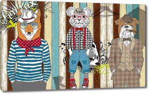 Животные в одеждах людей