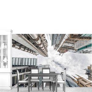 Лондонский Сити. Skyline as seen from street. Вид с неба. Бусин