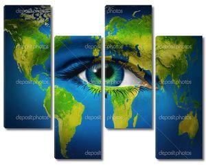 Человеческий глаз планеты Земля