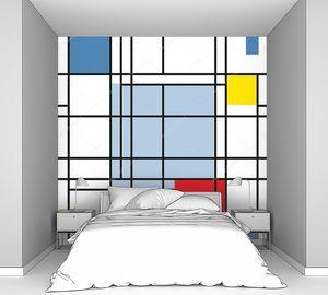 Бесшовный геометрический абстрактный рисунок в стиле супрематизма