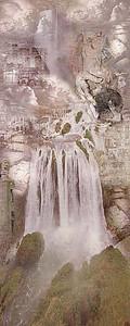 Водопады рисунок абстракция