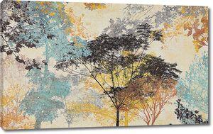 Неясные очертания листвы и деревьев