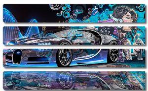 Фантастическая гоночная машина и граффити