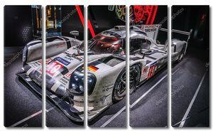 FRANKFURT - SEPT 2015: Porsche 919 Hybrid presented at IAA Inter