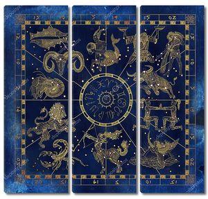 Коллаж из  знаков  зодиака