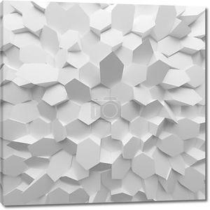 Стена из белых абстрактных шестиугольников